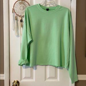 Wild fable neon green sweatshirt
